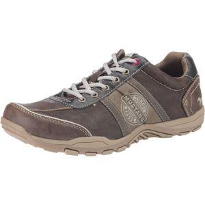 MUSTANG Športové šnurovacie topánky  biela / hnedá / svetlohnedá