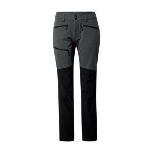 Haglöfs Outdoorové nohavice 'Rugged Flex'  sivá / čierna