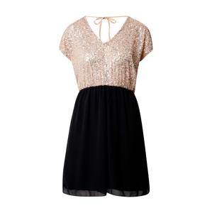 ABOUT YOU Kokteilové šaty 'Mila'  čierna / ružová