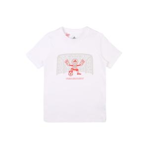 ADIDAS PERFORMANCE Funkčné tričko  biela / oranžová