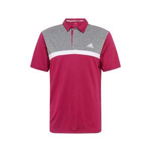 adidas Golf Funkčné tričko  sivá / vínovo červená