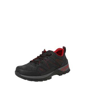 RIEKER Športové šnurovacie topánky  tmavosivá / čierna melírovaná