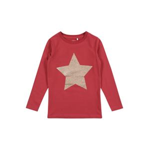 NAME IT Tričko 'RASTAR'  pastelovo červená / strieborná