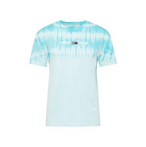 Tommy Jeans Tričko 'TIE DYE'  biela / svetlomodrá / kobaltovomodrá / červená