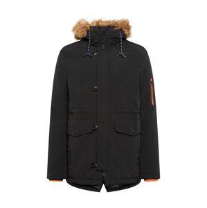 Denim Project Zimná bunda 'Kondy'  čierna / svetlohnedá