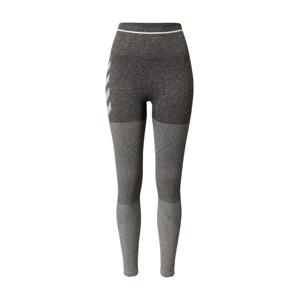 Hummel Športové nohavice  svetlosivá / tmavosivá