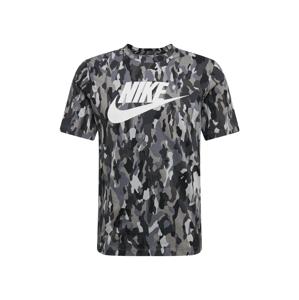 Nike Sportswear Tričko  sivá / čierna / svetlosivá / tmavosivá