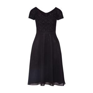 SWING Večerné šaty  čierna / strieborná