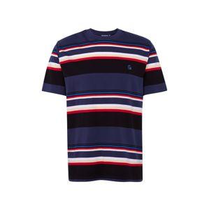 Carhartt WIP Tričko  hrdzavo červená / tmavomodrá / biela