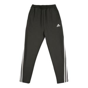 ADIDAS PERFORMANCE Športové nohavice  čierna melírovaná / biela
