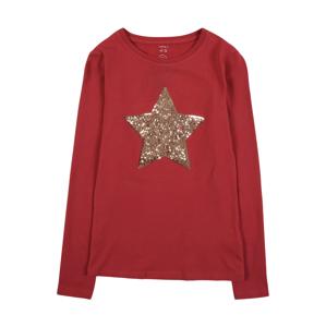 NAME IT Tričko 'STAR'  svetločervená / zlatá