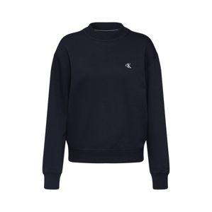 Calvin Klein Jeans Mikina 'CK EMBROIDERY REGULAR CREW NECK'  čierna